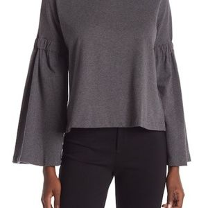 Vince Camuto Mock Neck Bell Sleeve Top